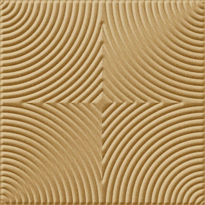 10' Wide x 4' Long Curvation Pattern Argent Gold Finish Thermoplastic Flexlam Wall Panel