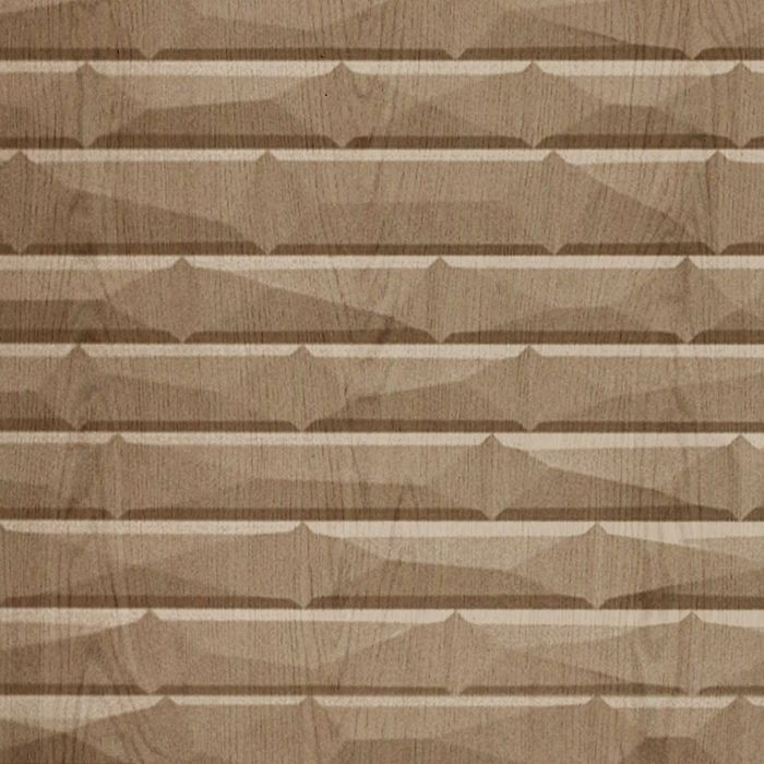 FlexLam 3D Wall Panel | 4ft W x 10ft H | Vista Pattern | Washed Oak Finish