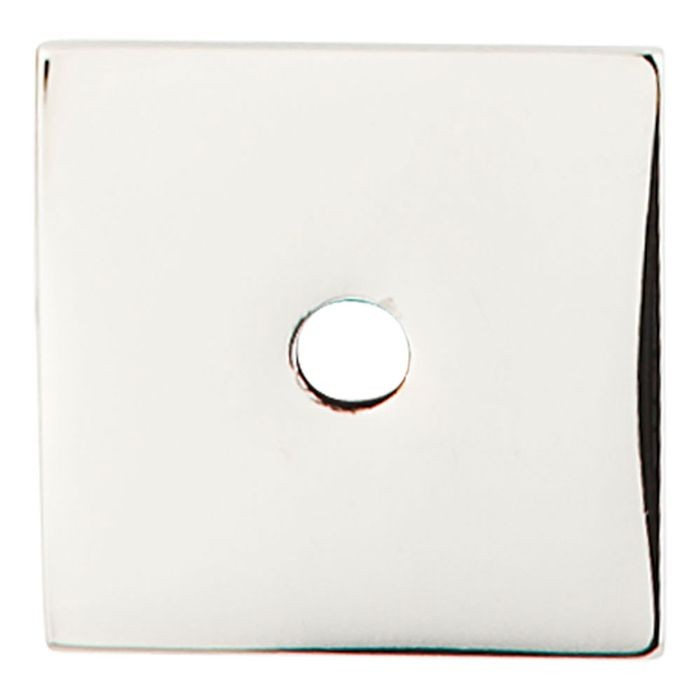 "Square Backplate 1"" Diameter Polished Nickel"