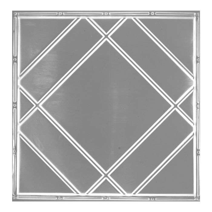 Tin Plated Stamped Steel Ceiling Tile | Nail Up/Glue Up Ceiling Tile | 2ft Sq | Copper Finish