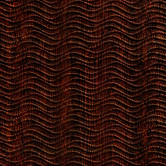 FlexLam 3D Wall Panel | 4ft W x 10ft H | Wavation Pattern | African Cherry Finish
