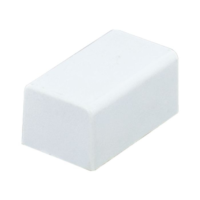 "1"" Long White Plastic End Cap"