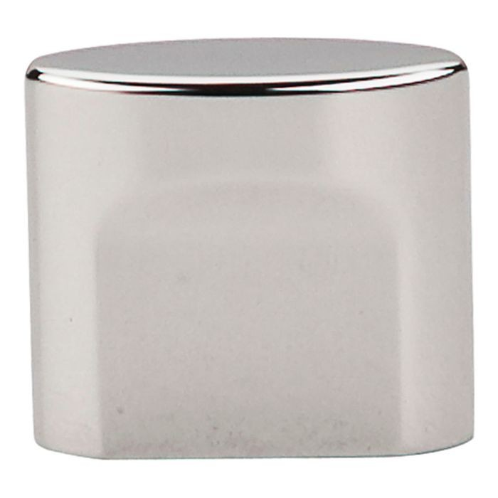 "Small Oval Slot Knob 3/4"" Cc Polished Nickel"