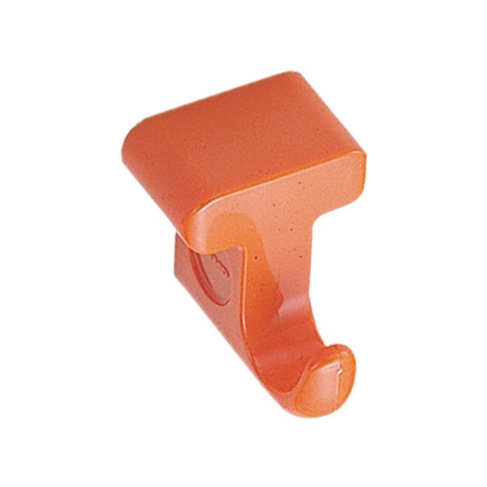 "1-23/32"" High Orange ABS Plastic Magnetic Hook"
