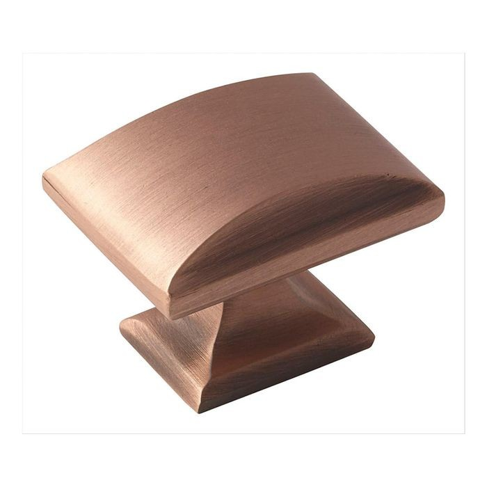 "1 1/2"" Long Knob Brushed Copper"