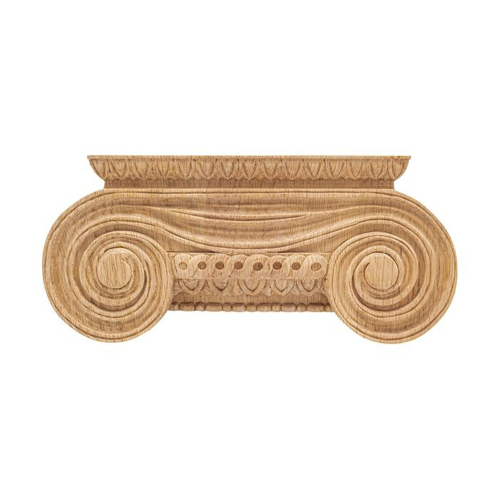 10-3/8in W x 4-5/8in H | Solid Red Oak Royal Wood Collection Large Capital | RWC116 Series