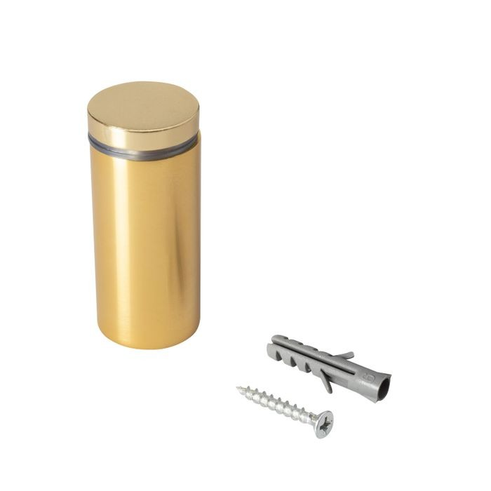 "1"" Diameter x 2"" Barrel Length Gold Aluminum Eco Series Easy Fasten Standoff"