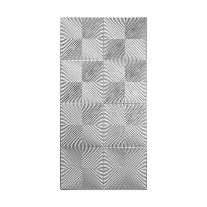 10' Wide x 4' Long Curvation Pattern Diamond Brushed Finish Thermoplastic Flexlam Wall Panel