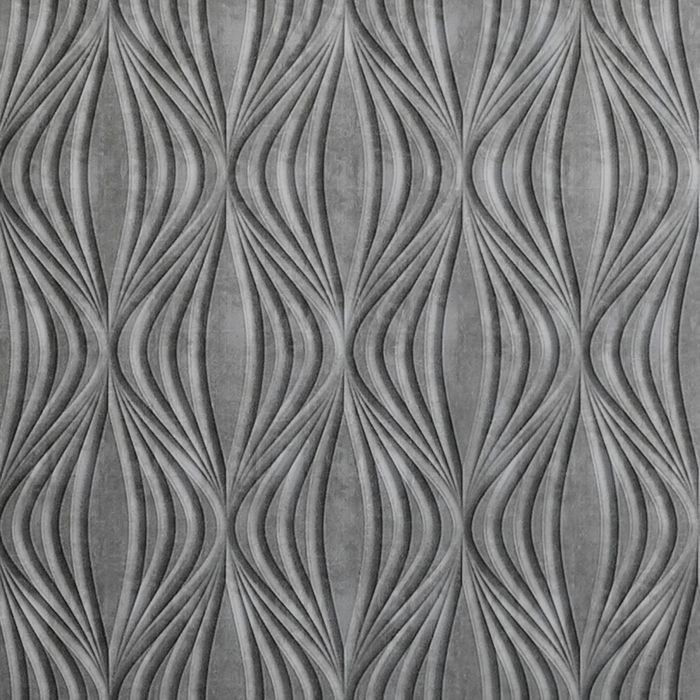 FlexLam 3D Wall Panel | 4ft W x 10ft H | Shallot Pattern | Crosshatch Silver Finish