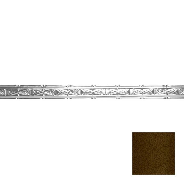 Tin Plated Stamped Steel Cornice | 3-1/2in H x 3in Proj | Bronze Vein Finish | 4ft Long