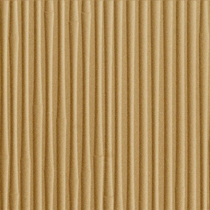10' Wide x 4' Long Bamboo Pattern Argent Gold Finish Thermoplastic Flexlam Wall Panel