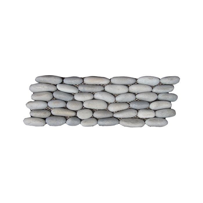 "12"" Wide x 4"" High Latte 2-Sided Interlocking Round Stacked Stone Tile"