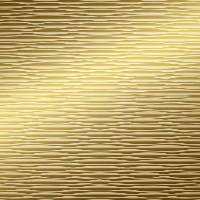 10' Wide x 4' Long Mojave Pattern Mirror Gold Finish Thermoplastic Flexlam Wall Panel