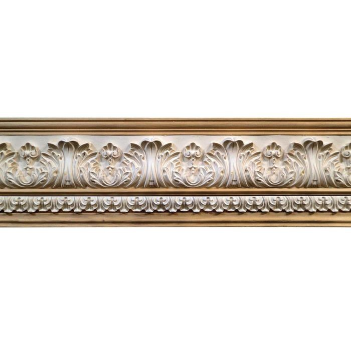 10in H x 1-1/2in Proj | Unfinished Polymer Resin | 480-B Series with Bottom Style 5 | Frieze Moulding | 10ft Long