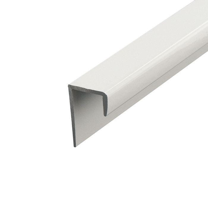 1/2in White | Aluminum Cap Moulding | 12ft Length