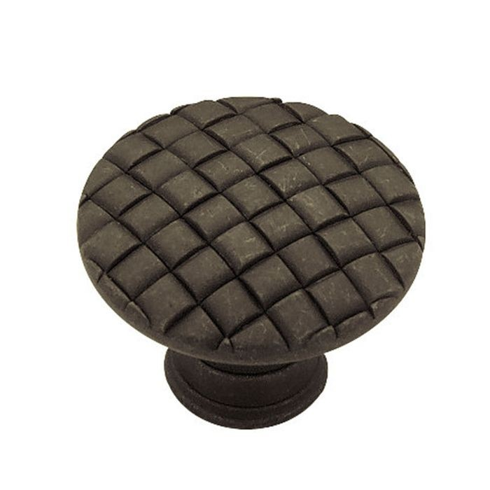 "1.18"" Dia Zinc Diecast Knob Oil Rubbed Bronze (30mm)"