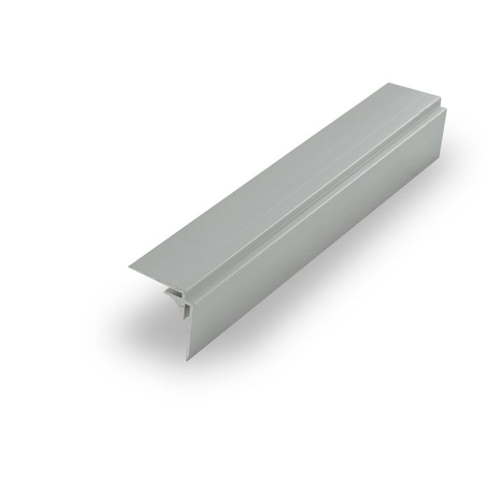 "1/16"" Mechanical Polished Finish Aluminum 90 Degree Inside Corner Channel 12' Length"