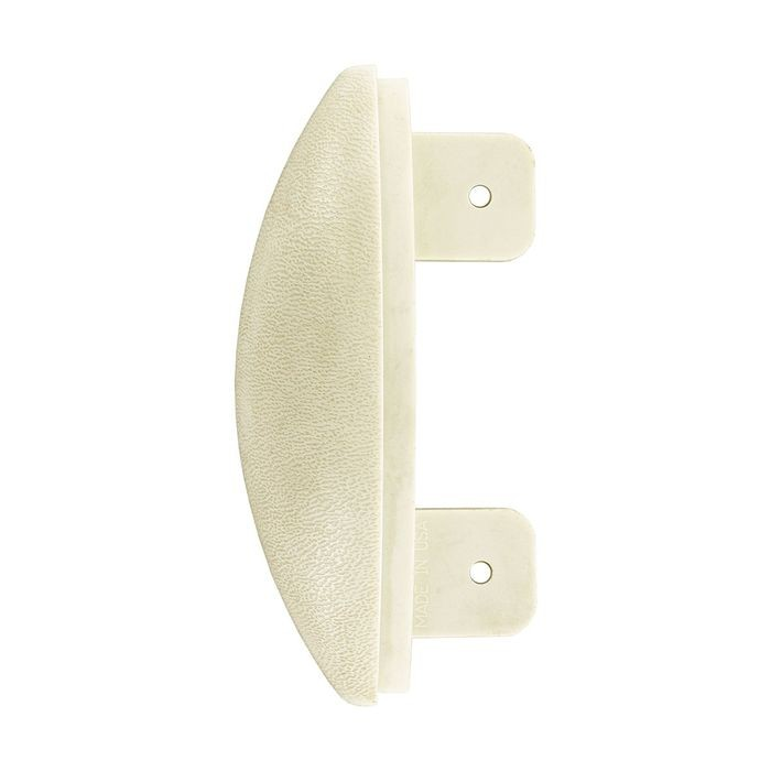 Tan Textured Vinyl with Aluminum Retainer End Cap for WG-5C Red-E Clip Design Wall Guard