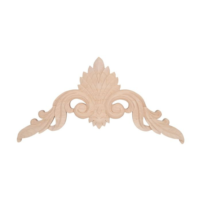 Hand Carved Unfinished | Solid North American Hardwood Cartouche Applique | RWC23 Series