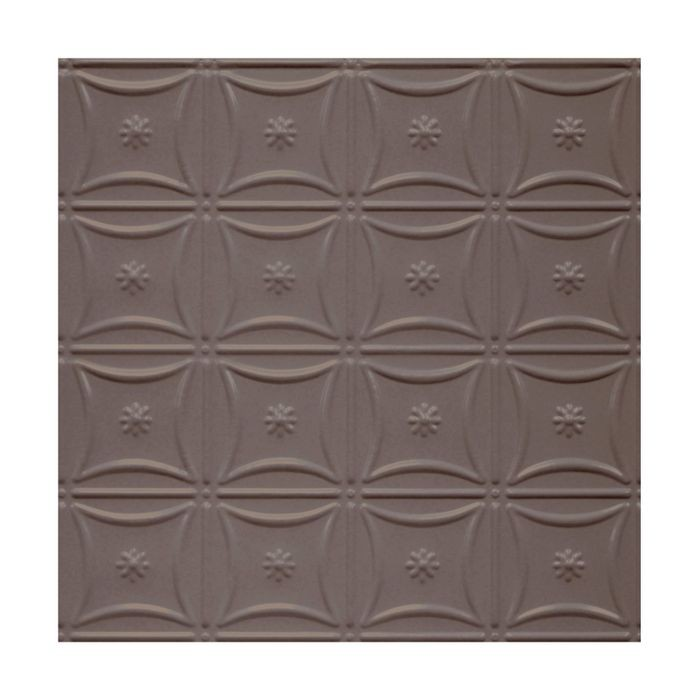 Tin Plated Stamped Steel Ceiling Tile | Nail Up/Glue Up Ceiling Tile | 2ft Sq | Titanium Finish