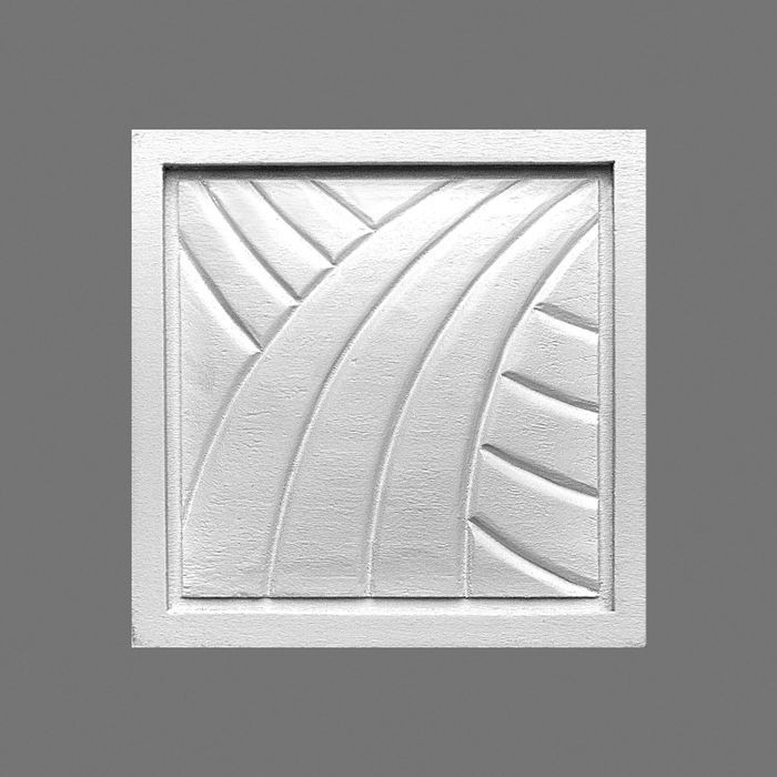 Orac Decor | High Density Polyurethane | 3D Decorative Element | Applique | Primed White | 3-9/16in H x 3-9/16in W