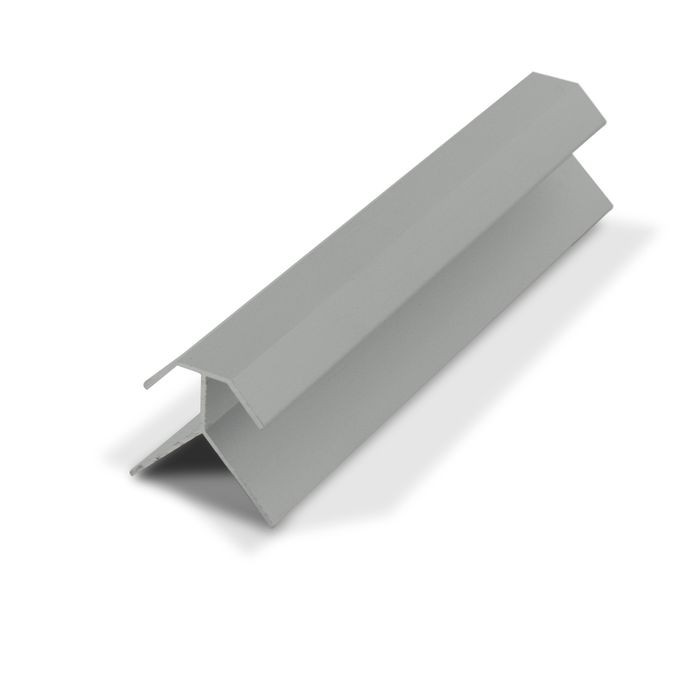 1/2in Clear Anodized (Satin) Finish Aluminum | 90 Degree Outside Corner Channel | 12ft Length