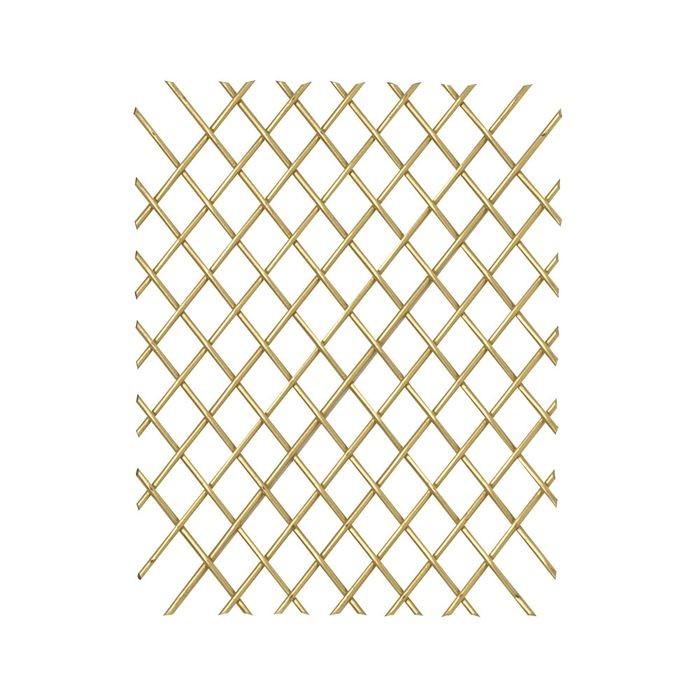 4 X 6 Round Single Crimp Satin Brass Woven Wire Grill
