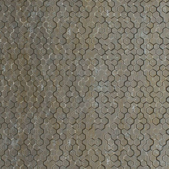 FlexLam 3D Wall Panel | 4ft W x 10ft H | Beehive Pattern | Vintage Metal Finish
