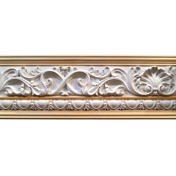 6-1/2in H x 1in Proj | Unfinished Polymer Resin | 430-D Series | Frieze Moulding | 5ft Long