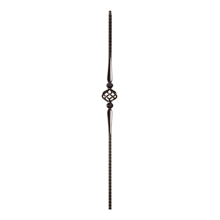 "Powder Coated Baluster Highammerd Oil RubbedBronze 9/16"" Square x 44"" High"