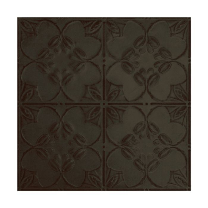 Tin Plated Stamped Steel Ceiling Tile | Nail Up/Glue Up Ceiling Tile | 2ft Sq | Antique Olive Finish