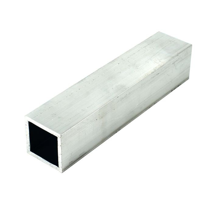 "1-1/4"" Outside Diameter x 1/8"" Wall Thickness Mill Finish Square Aluminum Tube - 12' Length"