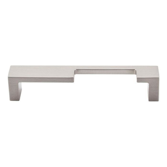 "Modern Metro Notch Pull ""B"" 5"" Cc Brushed Satin Nickel"