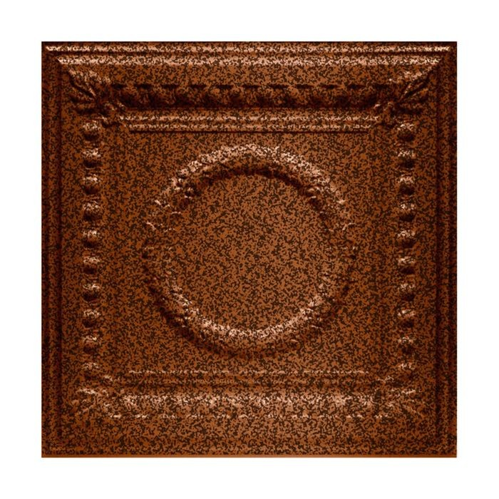 Tin Plated Stamped Steel Ceiling Tile | Lay In | 2ft Sq | Copper Vein Finish