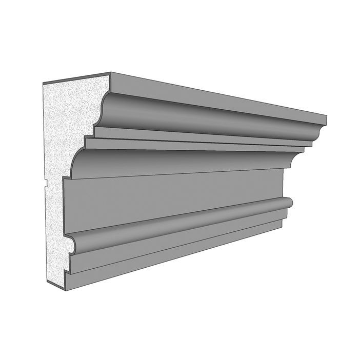 "11"" High x 6"" Deep Acrocore EPS Cornice Moulding 8' Length"