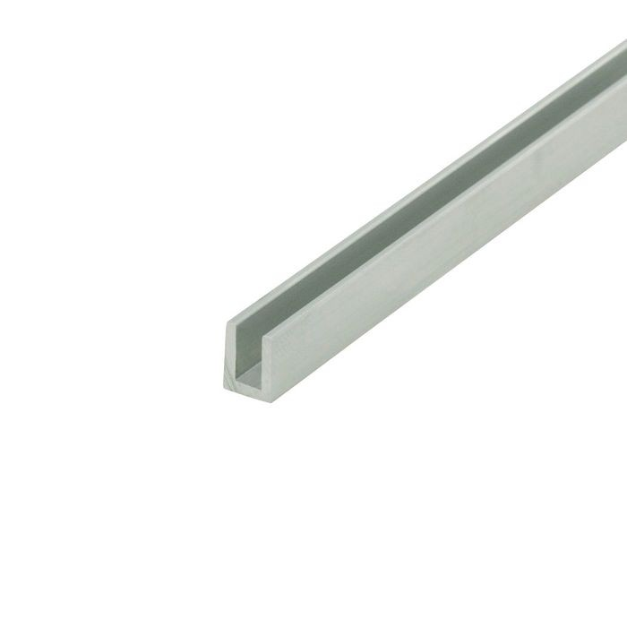 "1/8"" Mill Finish Aluminum U Channel Moulding 12' Length"
