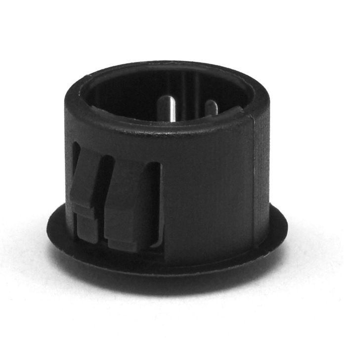 "1/2"" Black Nylon Locking Hole Plug"
