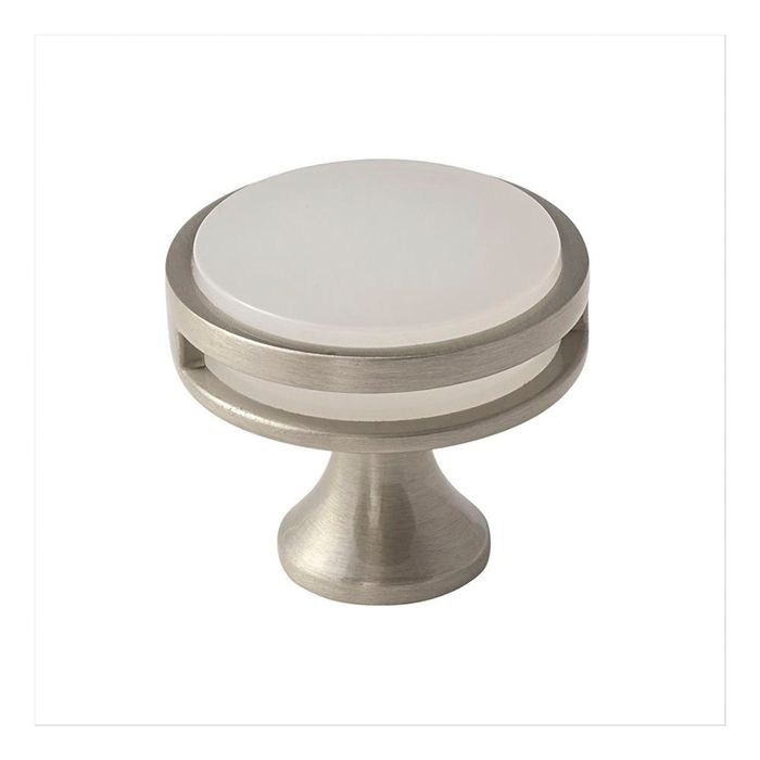 "1 3/8"" Diameter Knob Satin Nickel/Frosted"