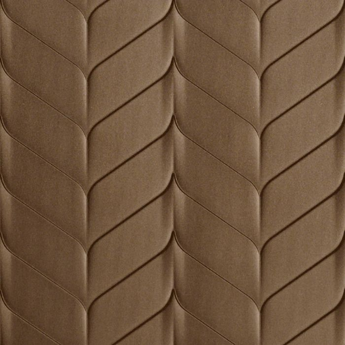 10' Wide x 4' Long Ariel Pattern Argent Bronze Finish Thermoplastic Flexlam Wall Panel