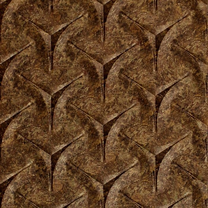 10' Wide x 4' Long Japanease Weave Pattern Bronze Fantasy Finish Thermoplastic Flexlam Wall Panel