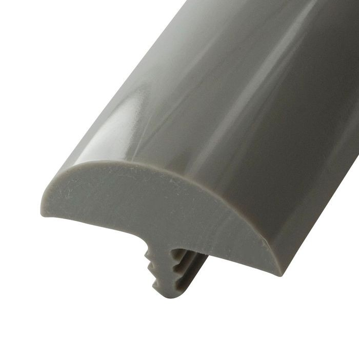1-1/4in Glossy Dove Grey Flexible PVC | Bumper Tee Moulding | 25ft Coil