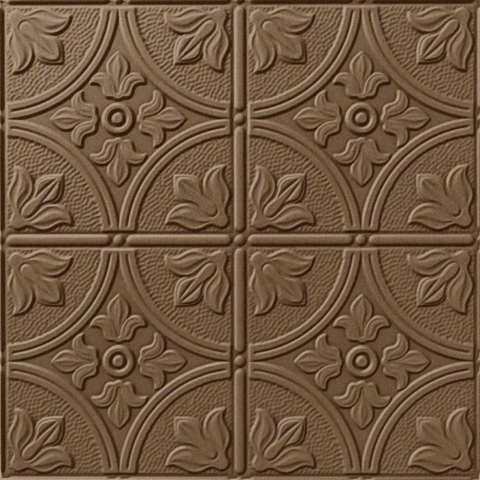 10' Wide x 4' Long Boston Pattern Argent Bronze Finish Thermoplastic Flexlam Wall Panel