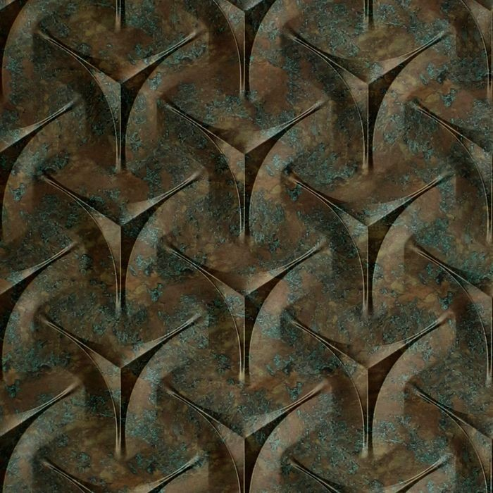 10' Wide x 4' Long Japanease Weave Pattern Copper Fantasy Finish Thermoplastic Flexlam Wall Panel