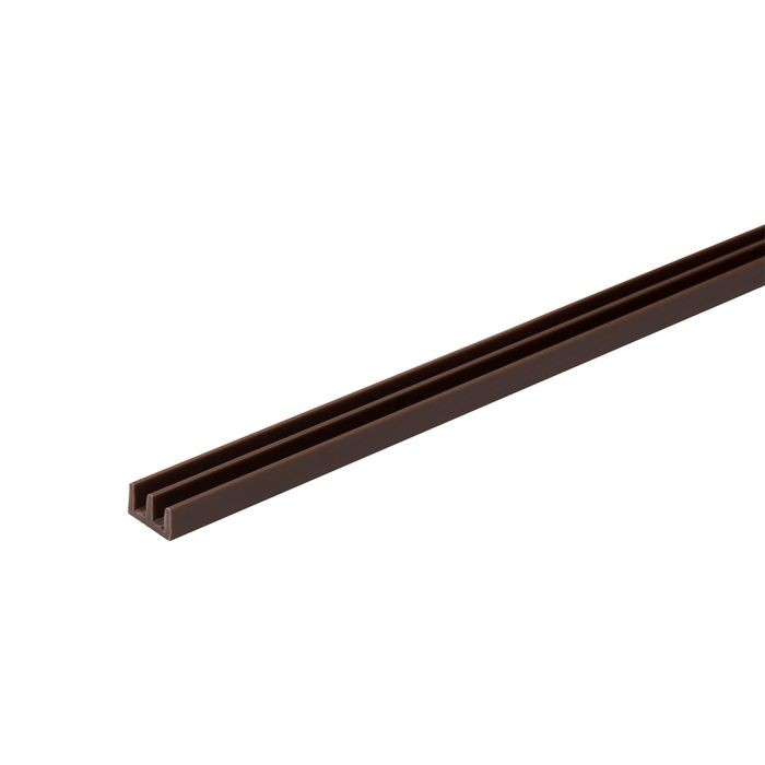 1/8in W | Lower Sliding Door Track | Brown Color | 12ft Length