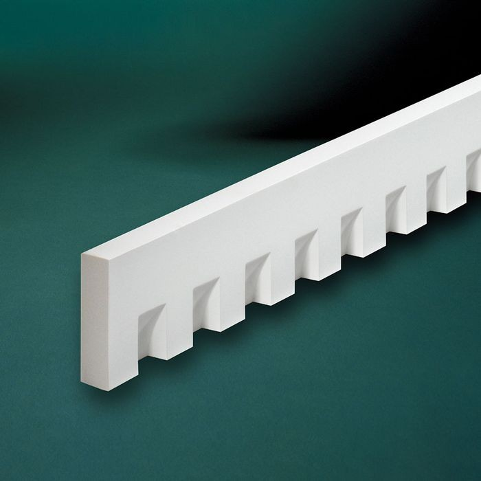 "1-1/4"" High x 5/8"" Wide Classic Dentil Moulding 5' Length"