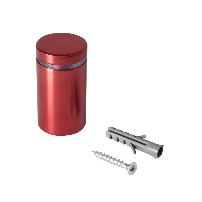 1in Dia x 1-1/2in Barrel Length | Cherry Red Aluminum | Eco Series Easy Fasten Standoff