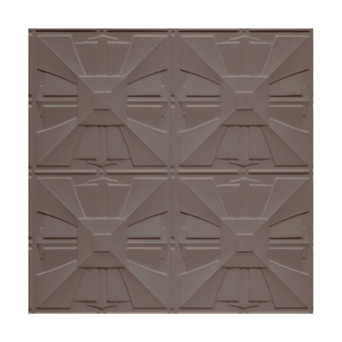 Tin Plated Stamped Steel Ceiling Tile | Lay In | 2ft Sq | Titanium Finish