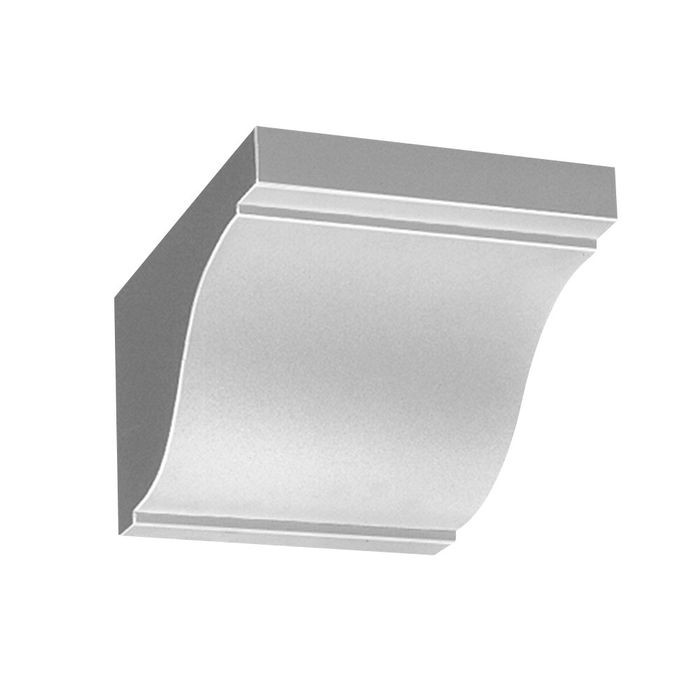 "7-7/8"" Wide x 5-3/8"" High Primed White Polyurethane Dentil Block"