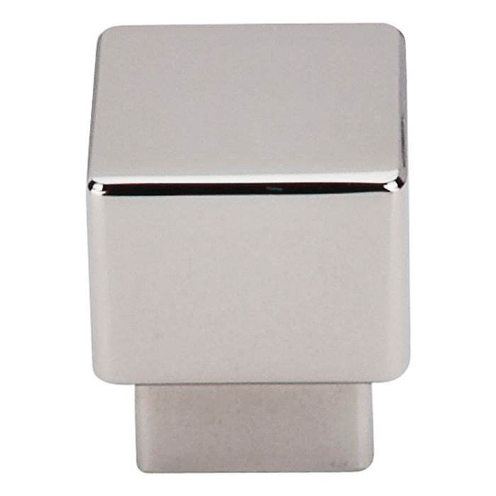 "Tapered Square Knob 1"" Dia. Polished Nickel"