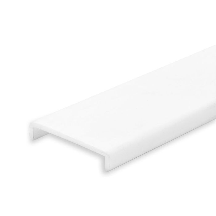 Opaque White Acrylic Channel Lens for LED Ribbon Mounting Channel | 8' Length